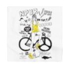 loveclonesのNPBR 自転車女子 ガーリーイラスト Bandana