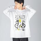 loveclonesのNPBR 自転車女子 ガーリーイラスト Big silhouette long sleeve T-shirts
