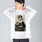 J. Jeffery Print Galleryの英国女王エリザベスⅠ世 Big silhouette long sleeve T-shirts