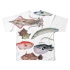 yukimimannoの博多前 HAKATAMAEフルグラフィックTシャツ