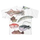 yukimimannoの博多前 HAKATAMAE フルグラフィックTシャツ