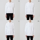 レモネードプールのメロンパンオバケ Hoodiesのサイズ別着用イメージ(男性)