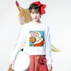 YONEのぶ~たん Long sleeve T-shirtsの着用イメージ(表面)