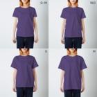 案山子堂のまーーーーーー! T-shirtsのサイズ別着用イメージ(女性)