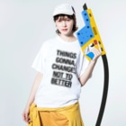 TATEYAMAのEverything is Everything Washed T-shirtsの着用イメージ(表面)