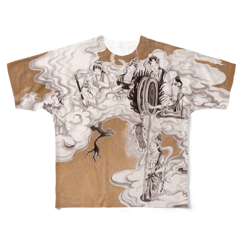 yukimimannoのほとけさま フルグラフィックTシャツ