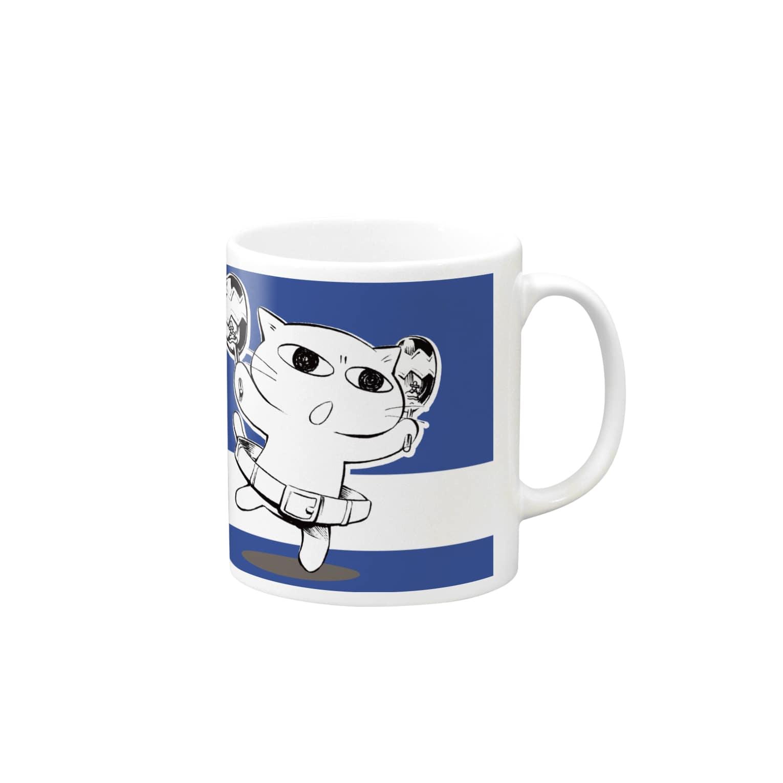 ねこガンマン オフィシャル。のねこガンマン(ベーシック) Mugs