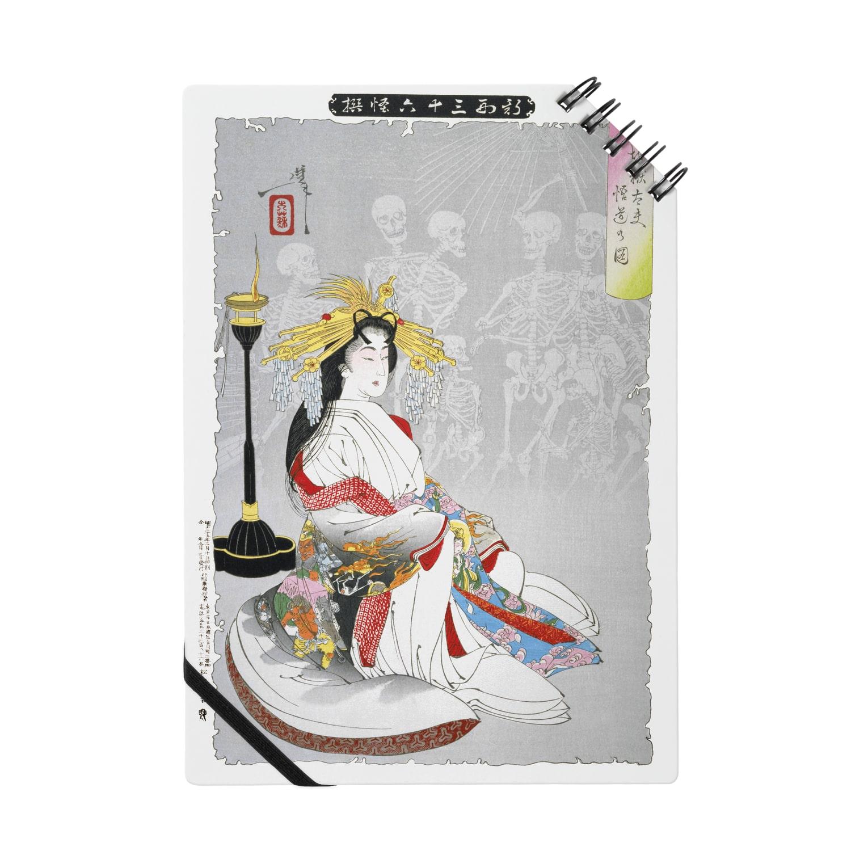和もの雑貨 玉兎の新形三十六怪撰 地獄太夫悟道の図【浮世絵・遊女】 Notes