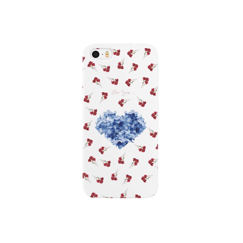 こんなの欲しいをご提供!ArtDesiartの青と赤 Smartphone cases