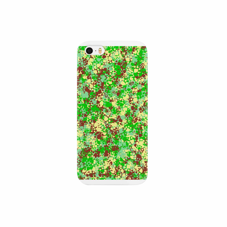 レオナのCamouflage(Cat's Footmark) Smartphone cases