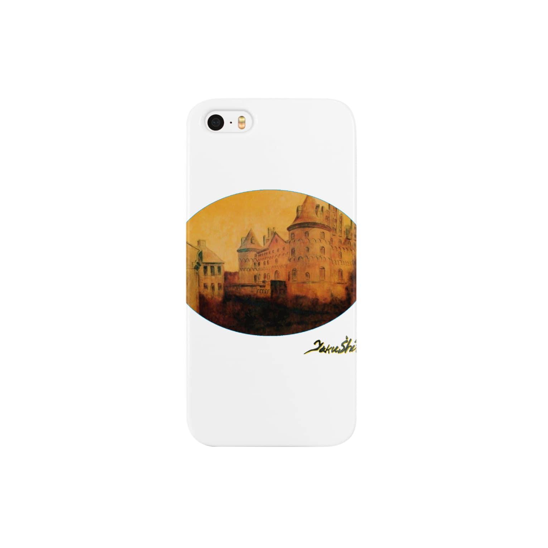 Taku SHIRAIの丸型Glorious Castle Smartphone cases