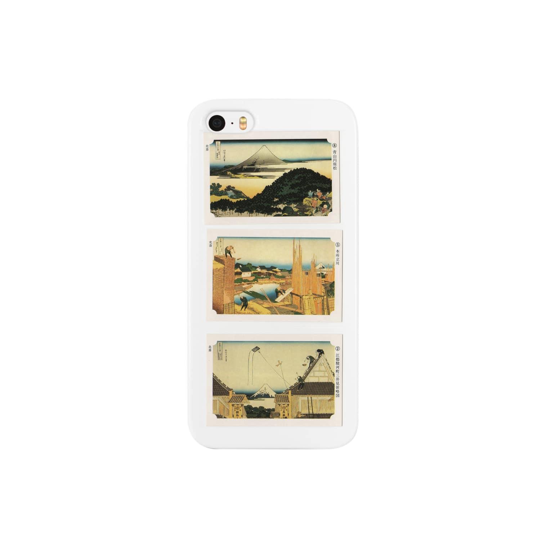 安永峰夫の北斎-J Smartphone cases