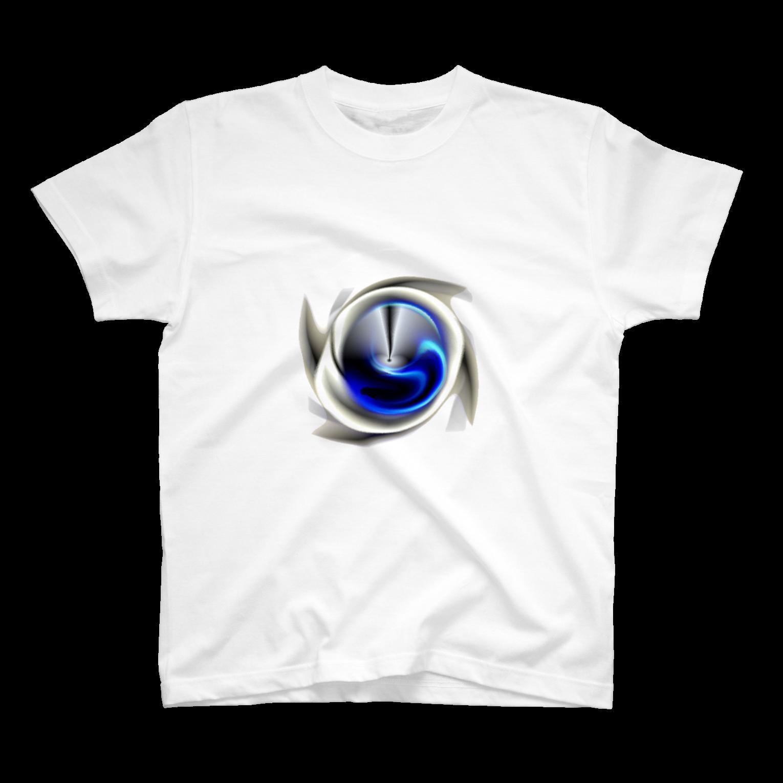 宇宙の贈りもの★YasueUenishiの電磁波カット/宇宙効果SpaceArt「最果て銀河」Tシャツ