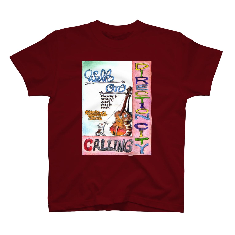 栗原進@夢の空想画家のDirection City Calling Tシャツ