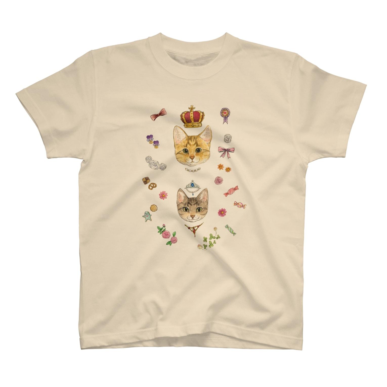 Rosemary*Teaのおちびとチャトニャン(おめかし) Tシャツ