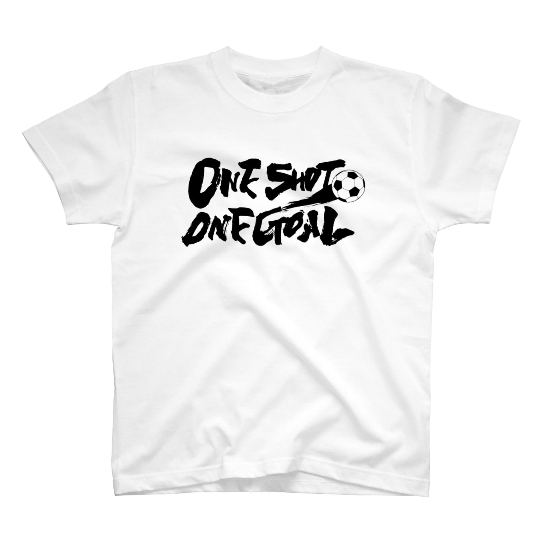 burnworks designのOne Shot One Goal Tシャツ