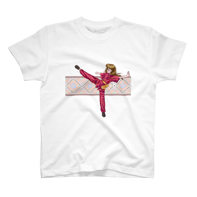 音楽工房田中(YouTuber,Music,Healing)のカンフー少女 T-shirts