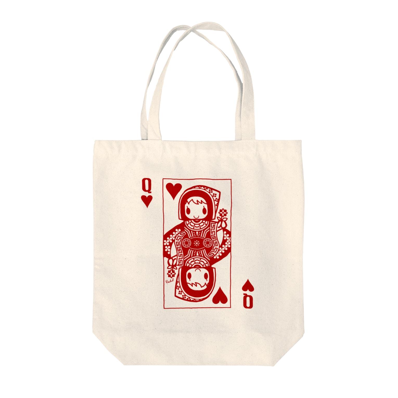 RachelのQUEEN OF HEARTS Tote bags