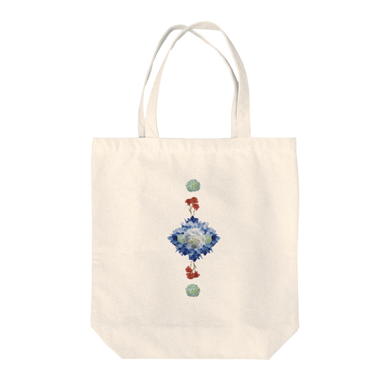 こんなの欲しいをご提供!ArtDesiartのあじさいとカーネーション Tote bags