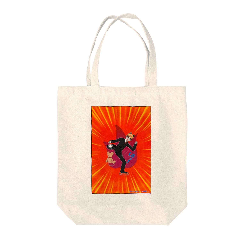 FreeComicHIROのぽぺとx黒ネコ(人間型) Tote bags