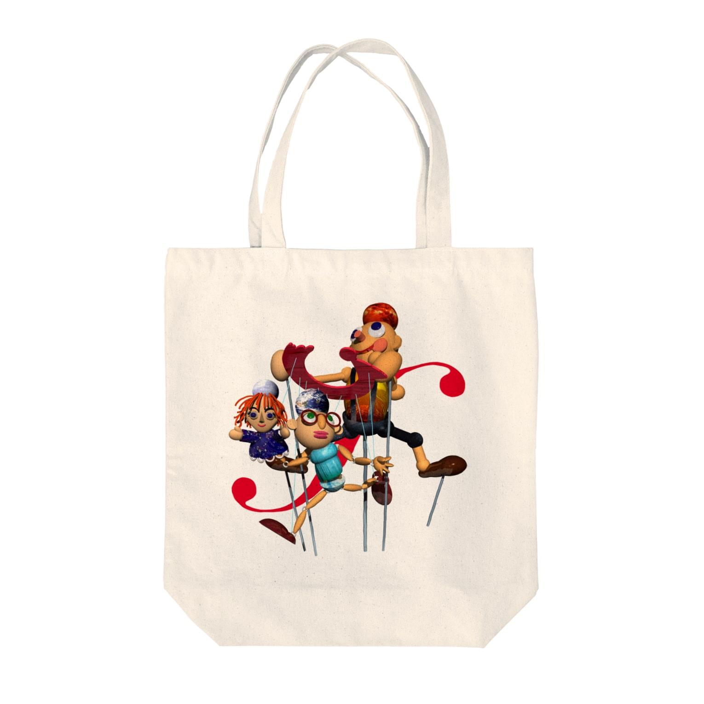 石田 汲のカランドール Tote bags