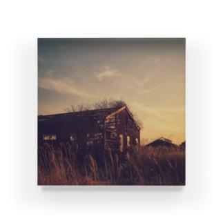 薄暮と廃墟。 Acrylic Block