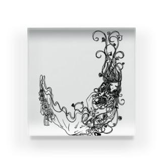 木の妖精 Acrylic Block
