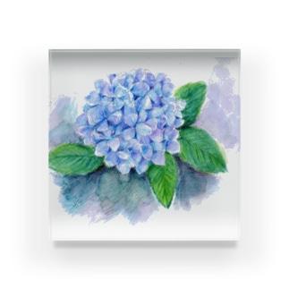 紫陽花 アクリルブロック
