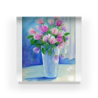 盛り花 アクリルブロック