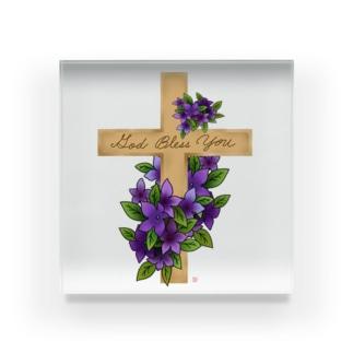 God Bless You ブロワリア Acrylic Block