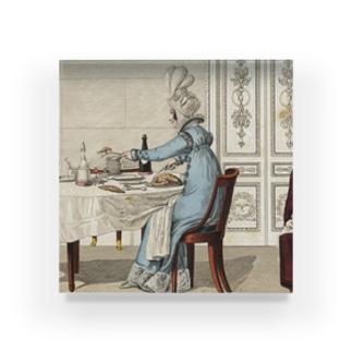 1818年の食卓風景 アクリルブロック
