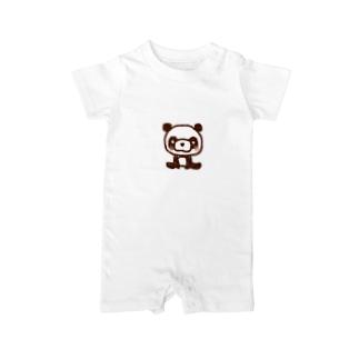 ほっこりパンダ Baby rompers