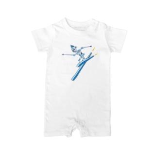 スキーロボ大滑降 Baby rompers