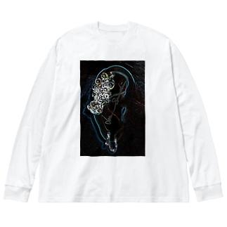 Primping Flower Big silhouette long sleeve T-shirts
