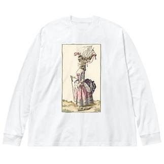 マリーアントワネット舟のヘアー Big silhouette long sleeve T-shirts
