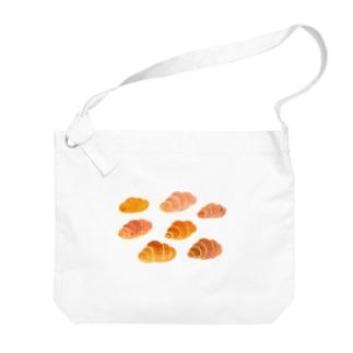 空飛ぶロールパン Big shoulder bags