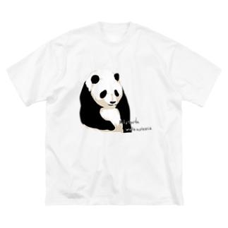 パンダちゃん Big silhouette T-shirts