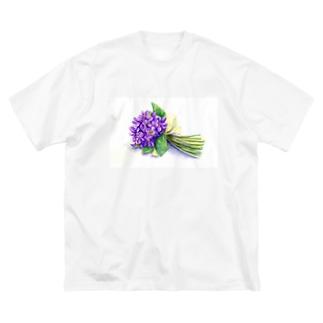 スミレの花束 Big silhouette T-shirts