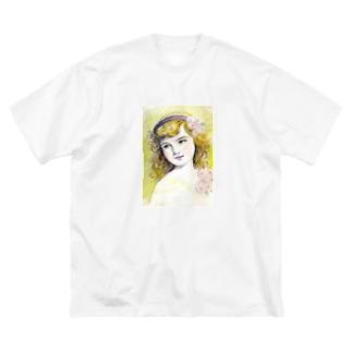 カチューシャ Big silhouette T-shirts