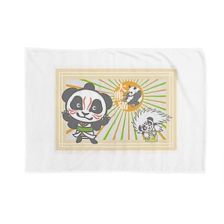 パンダ+歌舞伎 Blankets
