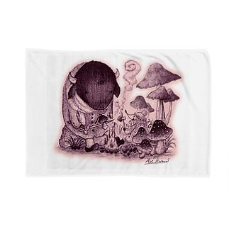 ハモリ アオイのきのこの森の出会い Blankets
