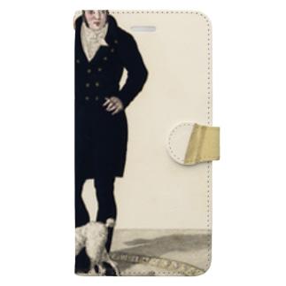 天才犬ムニート Book-style smartphone case