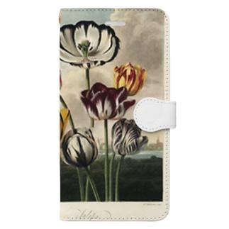 フローラの神殿 - チューリップ Book-style smartphone case