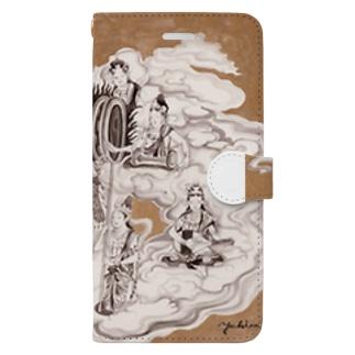 yukimimannoのほとけさま Book-style smartphone case
