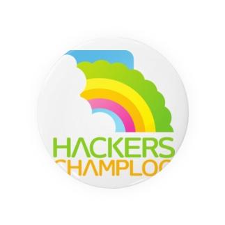 ハッカーズチャンプルーロゴ(正方形) Badges