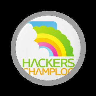 ハッカーズチャンプルーのハッカーズチャンプルーロゴ(正方形)缶バッジ