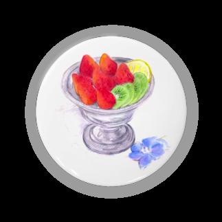 リラのフルーツ缶バッジ
