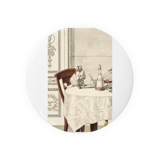 1818年の食卓風景 缶バッジ