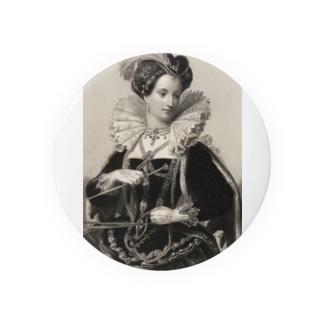 英国女王エリザベスⅠ世 缶バッジ