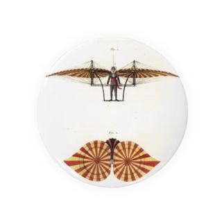 18世紀の飛行機 缶バッジ